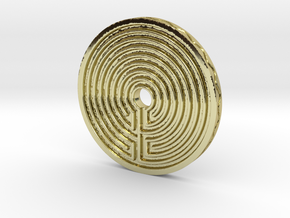 Labyrinth coin in 18K Gold Plated