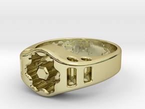 US14 Ring XIX: Tritium (Silver) in 18K Gold Plated