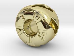 Fiver Tritium Bead (Pandora Thread) in 18K Gold Plated