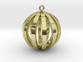 Round Pendant in 18K Gold Plated