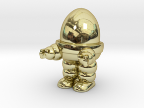Eggbot Game Token in 18K Gold Plated