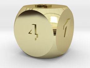 Multi-coloured Dice v1.0 in 18K Gold Plated