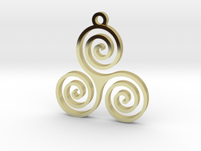 Triple Spiral (Triskele) - Sacred Geometry in 18K Gold Plated