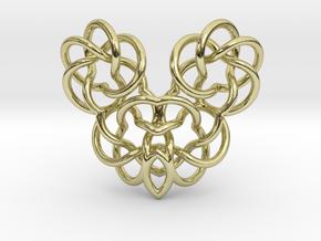Heart/Skull  in 18K Gold Plated