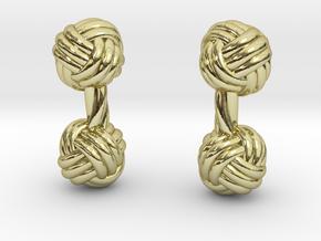 Silk Knot Cufflinks in 18K Gold Plated