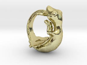 Gecko size16 in 18K Gold Plated