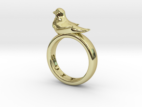 Office Bird Ring (various sizes) in 18K Gold Plated