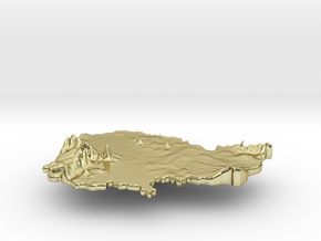 Cambodia Terrain Silver Pendant in 18K Gold Plated