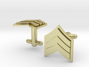 Sergeant Cufflinks - Silver,Brass,Gold in 18K Gold Plated