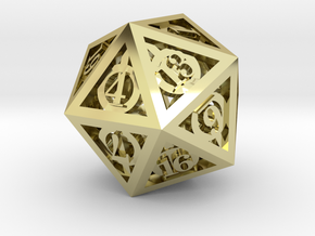 Deathly Hallows d20 in 18K Gold Plated