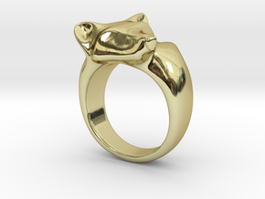 Fox Ring in 18k Gold Plated Brass: 5 / 49