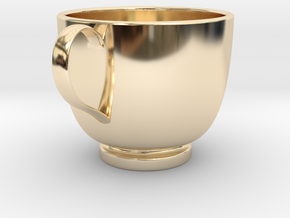 Turkish Coffee Cup in 14k Gold Plated Brass