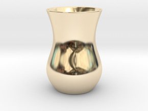 Tea Glass - Anatolian Style in 14k Gold Plated Brass