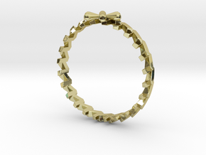 24 Caret Gold Ring (55mm) in 18K Gold Plated