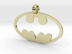 Batman necklace charm in 18K Gold Plated