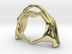 Hand-heart-27mm in 18K Gold Plated
