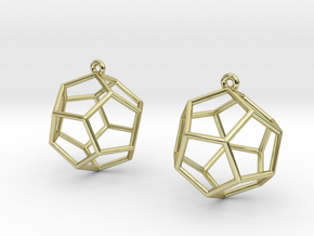 Dodecahedron Earrings in 18K Gold Plated