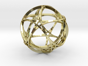 Pentagram Dodecahedron 1 (narrow, medium) in 18K Gold Plated