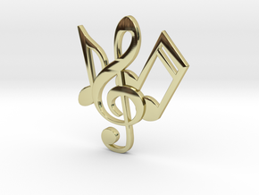 Music Necklace in 18K Gold Plated