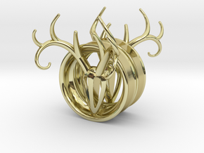 1 & 13/16 inch Antler Tunnels in 18K Gold Plated