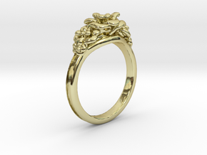 Rose Ring in 18K Gold Plated