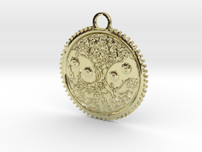 Celtic Tree Pendant in 18K Gold Plated