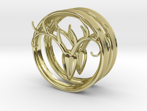 3 Inch Antler Tunnels in 18K Gold Plated