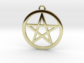 Pentacle Pendant 5cm in 18K Gold Plated