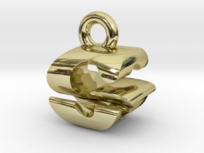 3D Monogram Pendant - GSF1 in 18K Gold Plated