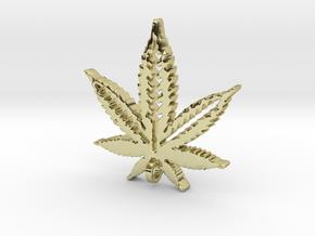Marijuana Pendant in 18K Gold Plated