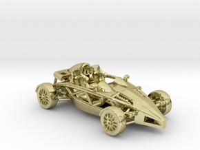 "Atom HO scale model w/o wings 1.6"" RHD in 18K Gold Plated"