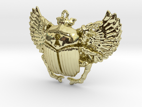 3D printed Winged Scarab in 18K Gold Plated