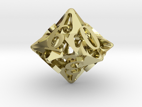 Pinwheel Die10 in 18K Gold Plated