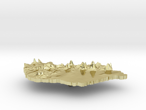 Hungary Terrain Silver Pendant in 18K Gold Plated