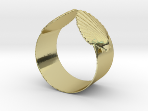 Napkin Scallop Ring in 18K Gold Plated