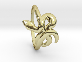 Slytherin Snake ring in 18k Gold Plated Brass: 8.5 / 58