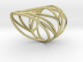 Diamond Ring (sz 7) in 18K Gold Plated