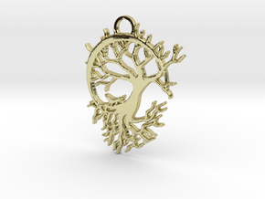 Howling Moon Pendant in 18K Gold Plated