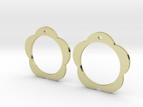 Flower Earrings in 18K Gold Plated