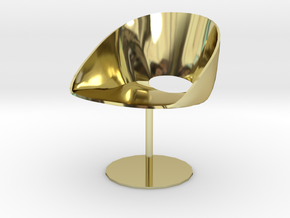 "Davis Lipse Seating Pedestal base 3.7"" tall in 18K Gold Plated"