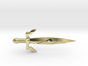 Gilded Sword in 18K Gold Plated