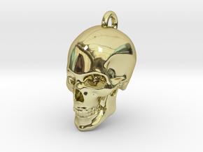 Human skull Pendant in 18K Gold Plated