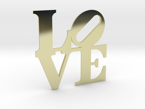 The Love Sculpture miniature in 18K Gold Plated
