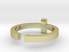 (USA) 12-1/4 Cross - Multiple Sizes in 18K Gold Plated
