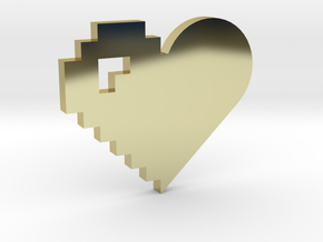 Pixel and Normal Heart Necklace, Love everyone in 18K Gold Plated