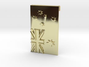 Australian Flag Belt Buckle in 18K Gold Plated