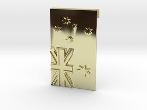 Australian Flag Belt Buckle in 18K Gold Plated