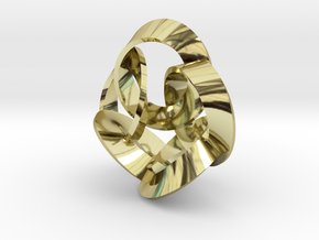 5 Twisted Loops Earring in 18K Gold Plated
