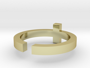 (USA) 10-1/4 Cross - Multiple Sizes in 18K Gold Plated