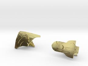 Rocketeer Cufflinks in 18K Gold Plated